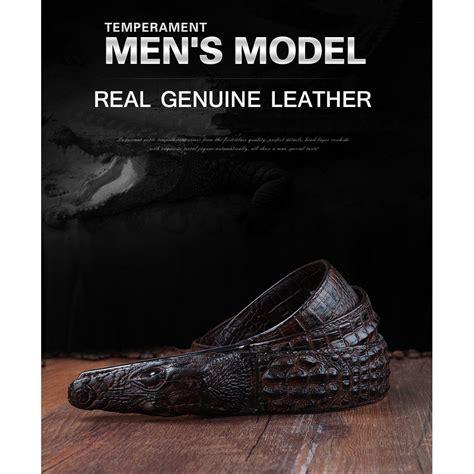 ikat pinggang 3d model crocodile black jakartanotebook
