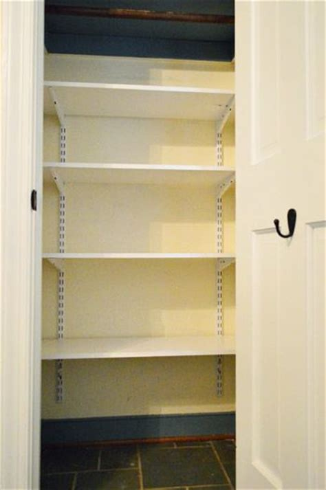 Coat Closet Shelving Converting An Coat Closet Into Organized Storage