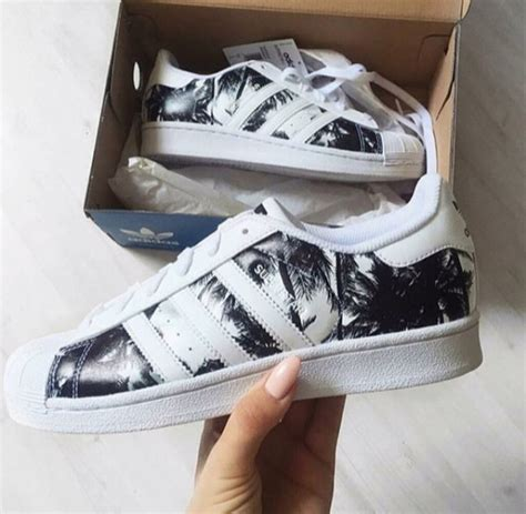 black and white pattern adidas shoes sneakers adidas palm tree white black adidas
