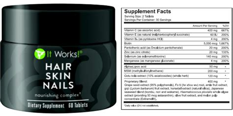 It Works itworks hair skin nails supplement review