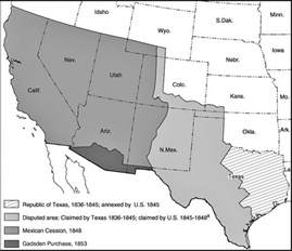 Outline The Non Territorial Terms Of The Treaty Of Versailles by Map Of The United States Expansion 1836 1853