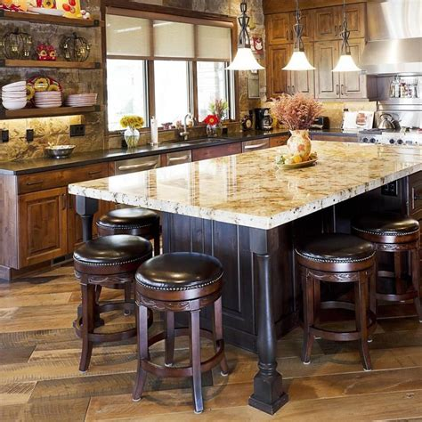 Furniture: Kitchen Island Dining Table Glass Walls Views