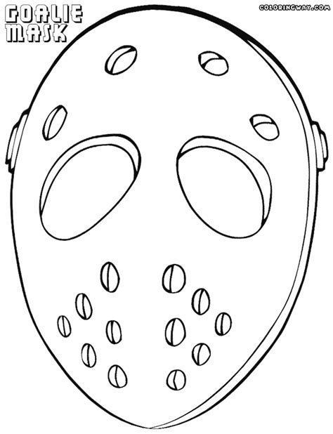 printable goalie mask goalie mask coloring pages coloring pages to download