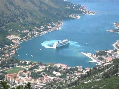 kotor cruise port cruise ship leaving kotor