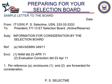 Navy Evaluation Correction Letter Cpo Selection Board Brief 2012 Fy2013