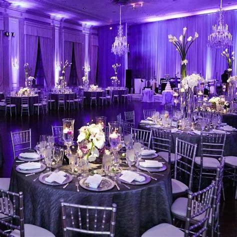 wedding reception table decorations purple glamorous purple wedding ideas modwedding