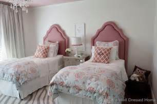 pink headboards transitional girl s room a well