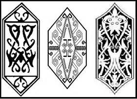 tato motif kartun inilah motif lukisan dan ukiran suku dayak beserta