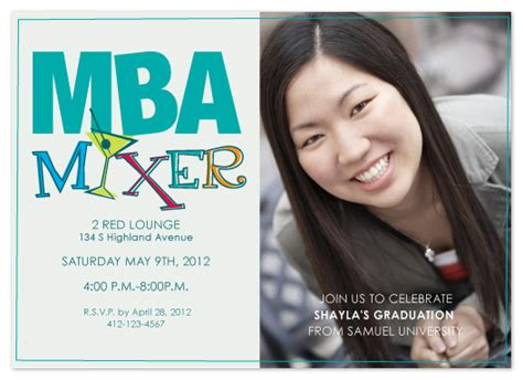 Ross Mba 2 Invitation by Graduation Announcements Mba Mixer At Minted