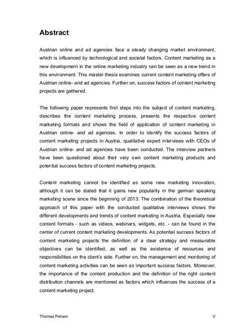 thesis abstract deutsch masterarbeit content marketing erfolgsfaktoren einleitung
