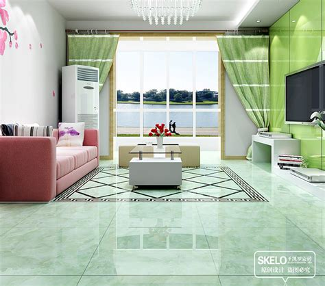Green Tile Living Room 800 800mm Foshan Floor Tiles Green Ceramic Tiles Glossy