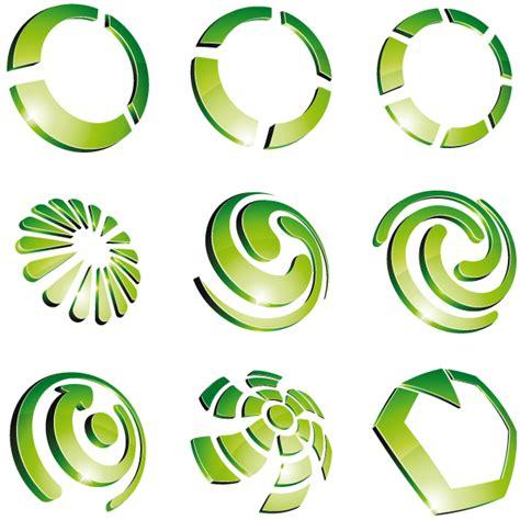 logo design free vector green 3d logo design vector 02 over millions vectors