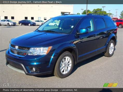 blue dodge journey fathom blue pearl 2013 dodge journey sxt black