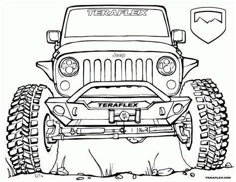 Army Jeep Coloring Pages