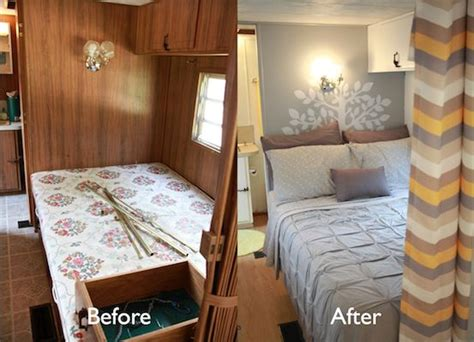 Before And After Makeover Pictures Of Our Single Vintage Cer Turned Gler Diy Renovation Vinyles