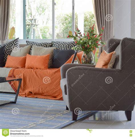 brown and orange sofa modern living room design with brown and orange sofa and