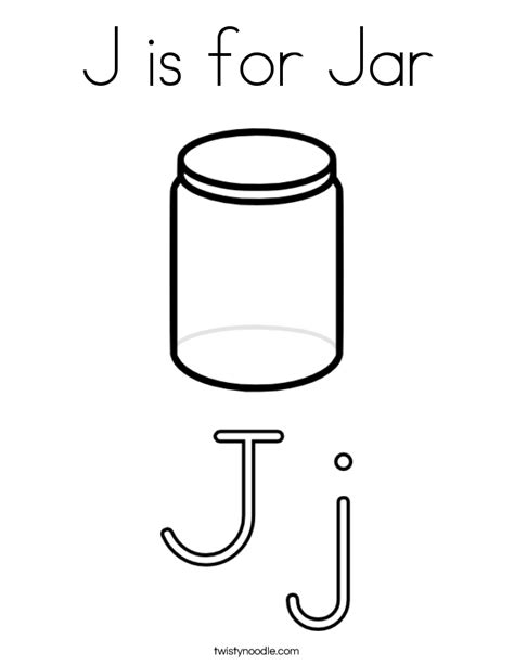coloring page jar j is for jar coloring page twisty noodle
