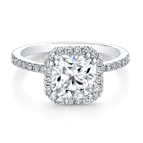 square engagement rings with band wedding