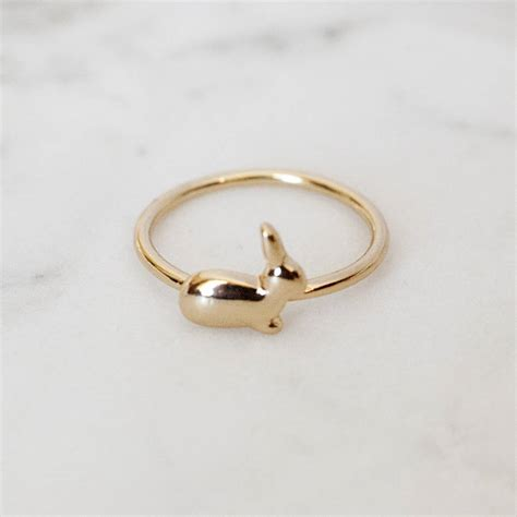 Bunny Ring bunny ring by junk jewels notonthehighstreet