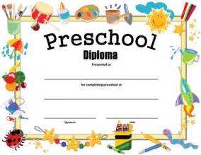 preschool graduation certificates templates preschool diploma free printable allfreeprintable
