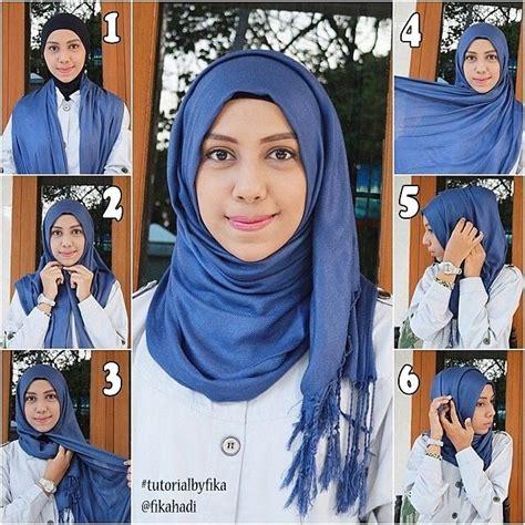 easy hijab tutorial step  step simple  casual