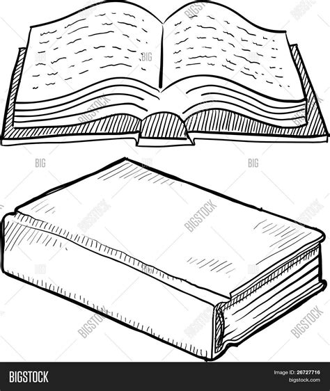 Sketches Book by Library Book Sketch Vector Photo Free Trial Bigstock