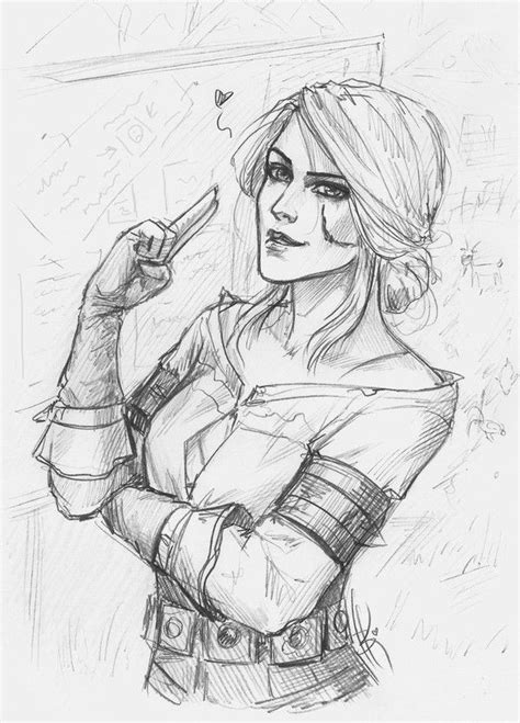 Witcher 3 Sketches by 64 Best Ciri Images On Witcher Character
