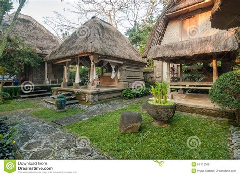 bali style house design traditional and antique balinese style villa design stock