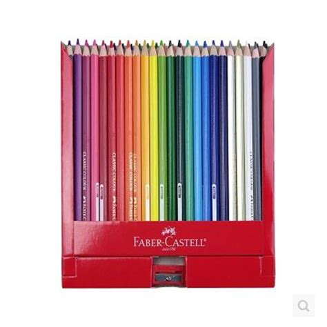 Pensil Warna Faber Castell Classic 24 wholesale lapis de cor faber castell 12 24 36 hydrotropic color water soluble colored pencil