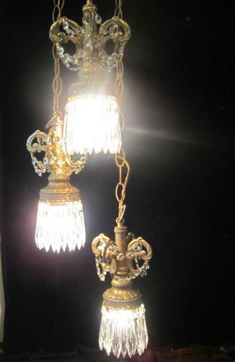 hollywood regency swag l hollywood regency vintage hanging swag l chandelier