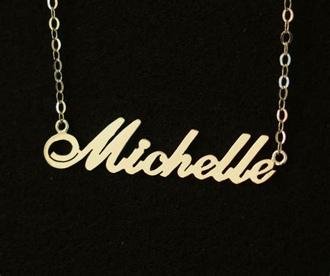 Gold Name necklace, Bridal necklace wedding gift, 18K Gold 925 Sterling silver necklace