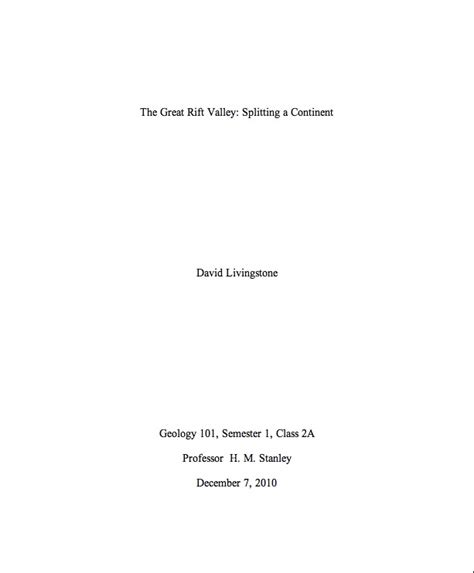 Cover Pages To Essays by College Paper Cover Page 1 The Writing Center