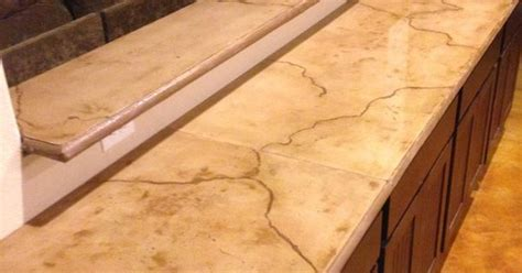 stained concrete countertop with veining pinteres