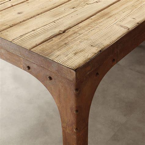 tavolo vintage tavolo con ruote vintage industrial in legno invecchiato