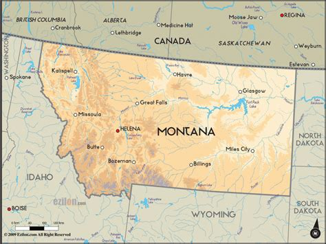 montana map with cities montana map travelsfinders