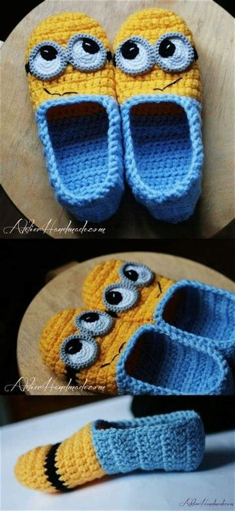 minion slippers for adults crochet minion slippers for adults are