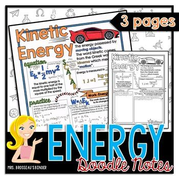 how to create energy in doodle energy kinetic gravitational potential and conservation