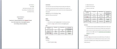 lab report template microsoft word how to write a general chemistry lab report 11 steps