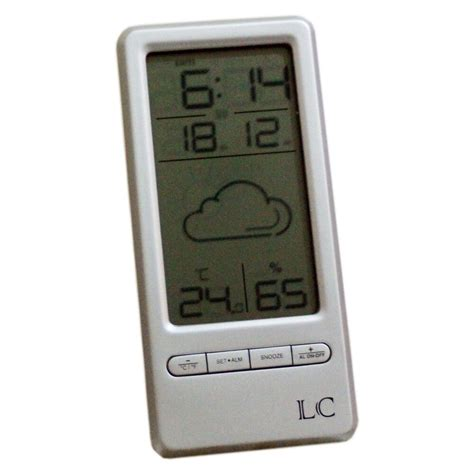wireless digital alarm clock weather station with humidity temperature ebay