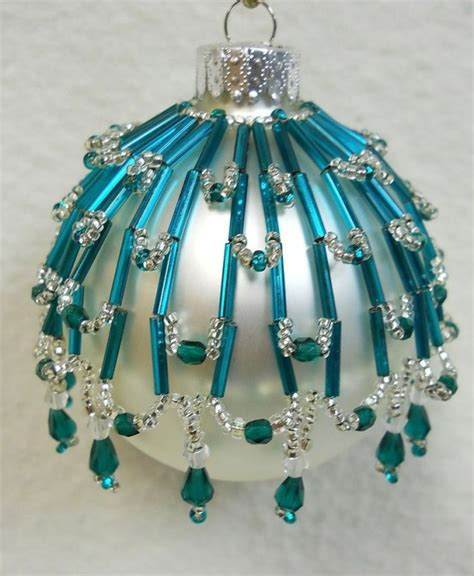 how to make beaded ornaments pattern only beaded ornament cover