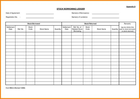5 stock transfer ledger template ledger review