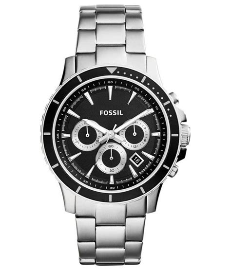 Jam Tangan Diesel Four Time Chronograph Silver fossil silver analog wrist for price in india buy fossil silver analog wrist
