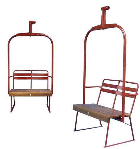 ski lift chair ideas ski lift chair bench newly made with a wooden seat for