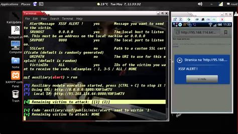 linux for android kali linux android phone xssf exploit