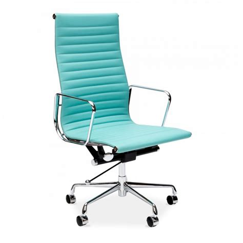 iconic chairs turquoise eames style ribbed office chair executive