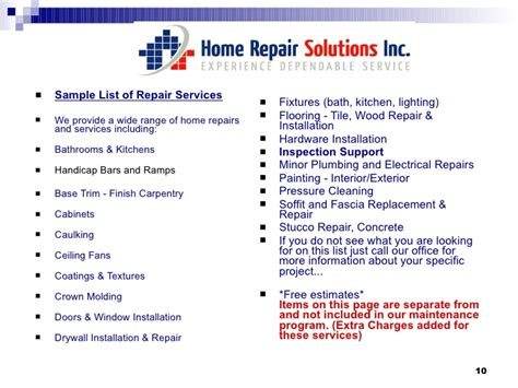 home maintenance service plans home maintenance plan