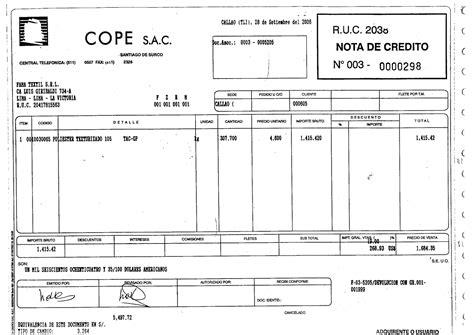 factura nota de cargo nota de credito recibo de documentos comerciales