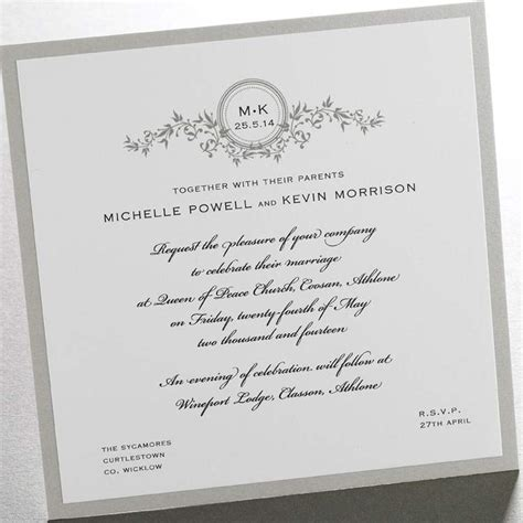 wording for your wedding invitations wedding invitation