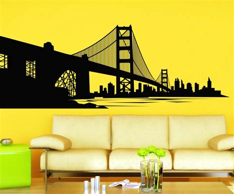 Wall Paper Wall Sticker Photo Wall Bay Bridge 8 733 stickonmania vinyl wall decals san francisco bay and bridge sticker