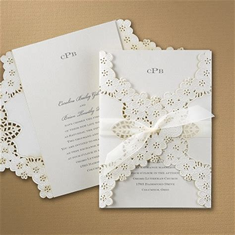 Carlson Craft Wedding Invitations by Floral Lace Invitation Gt Wedding Invitations